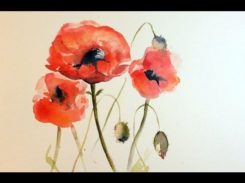 How To Paint Poppies In Watercolour How I Did It At Least Poppy