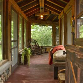 Rustic Living Rooms Design Ideas Pictures Remodel And Decor Maine House Rustic Porch House With Porch
