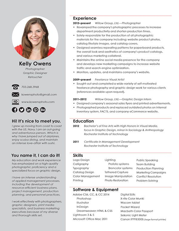 94db0619472561 562daffe51c3d Jpg 600 776 Image Graphic Design Resume