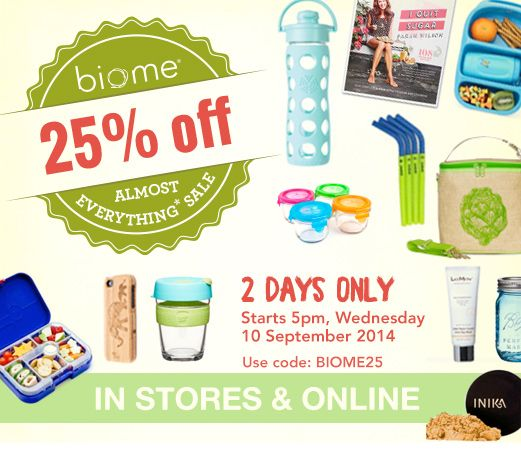 Biome Sale - great place to shop