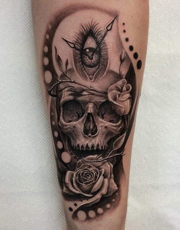 2cea1c1d6 Wicked #Skull #Tattoos and its Symbolic Skull Meanings for #Tattoo Ideas  Inner Forearm