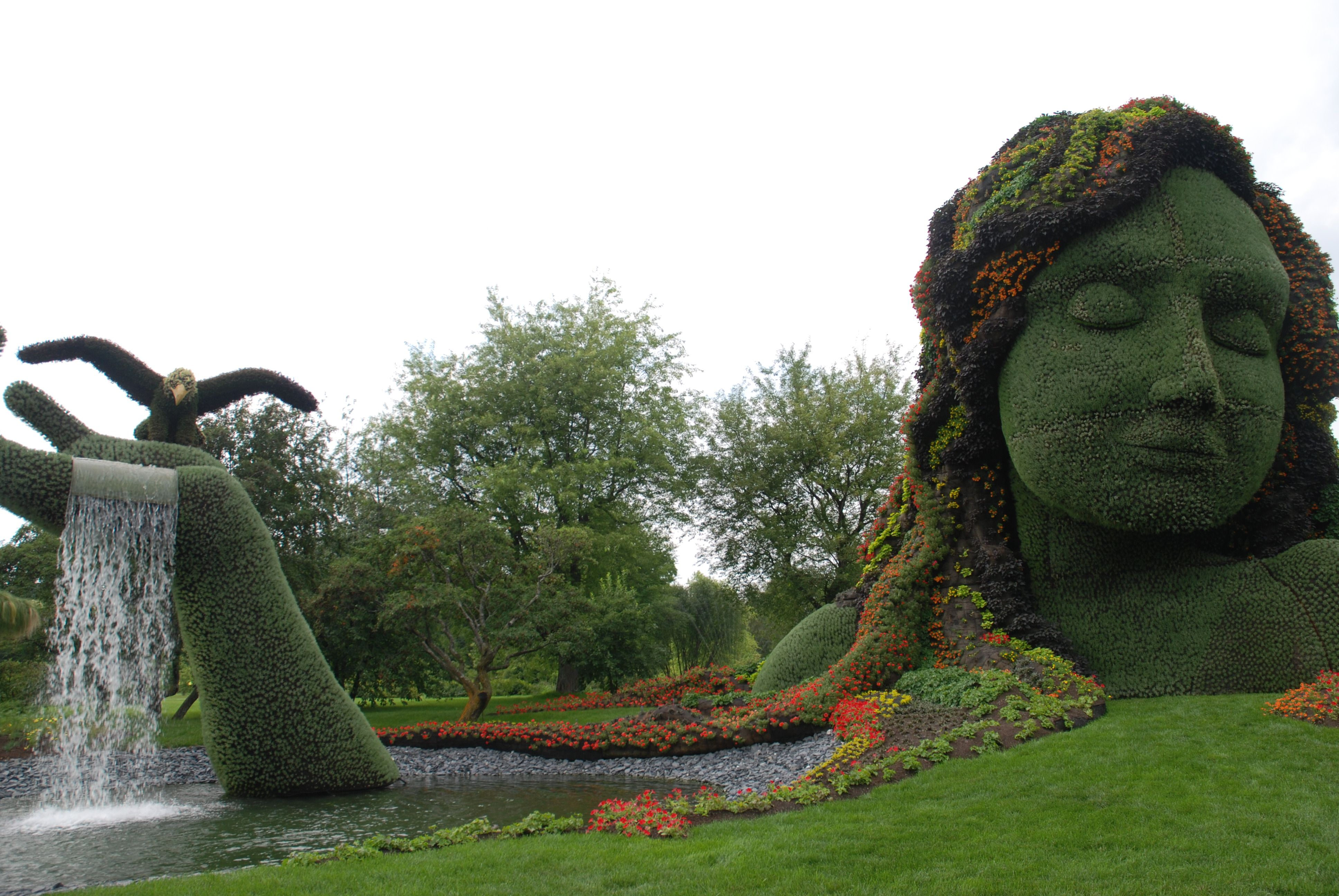 Mother Earth At Botanical Gardens In Montreal