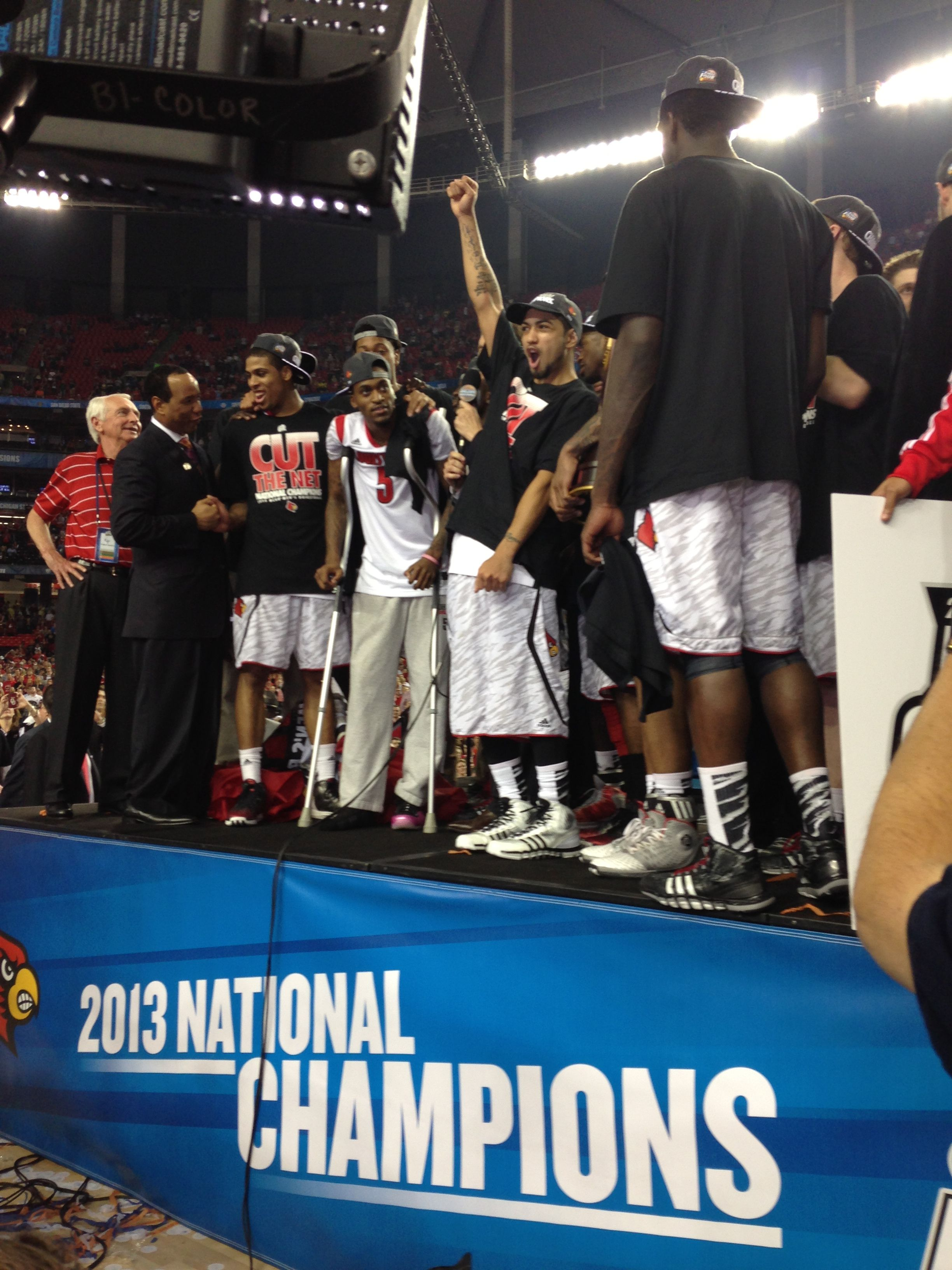 Raw Video Of Floor Celebration After Ncaa Win National Champs Louisville Cardinals National Championship