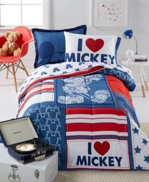 Disney's Mickey Americana Full 7 Piece Comforter Set - Multi
