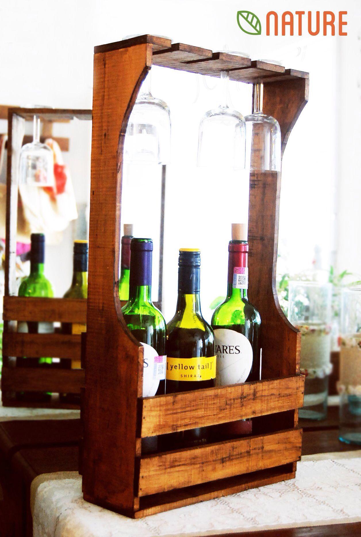 Porta vino | Rafturi vin | Pinterest | Madera, Estantes de vino y ...