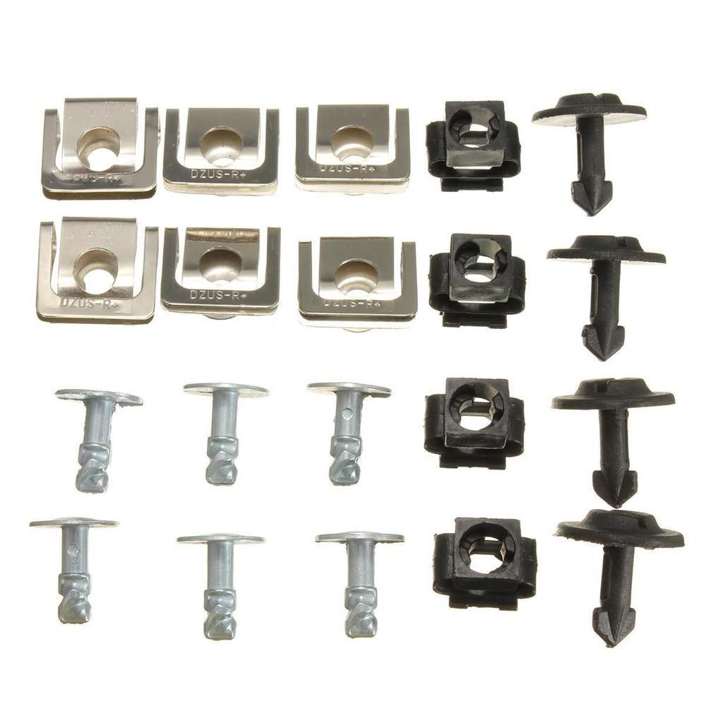 10 Set Under Engine Cover Undertray Kit Screw Metal Clips For Audi VW Passat