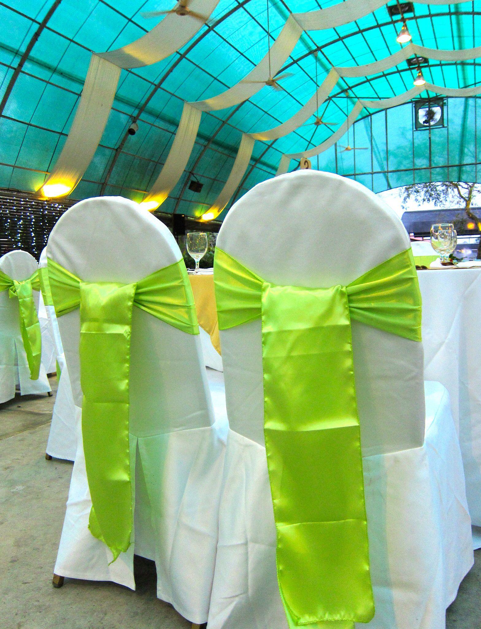 Green chair ties Silk chair ties Pinterest