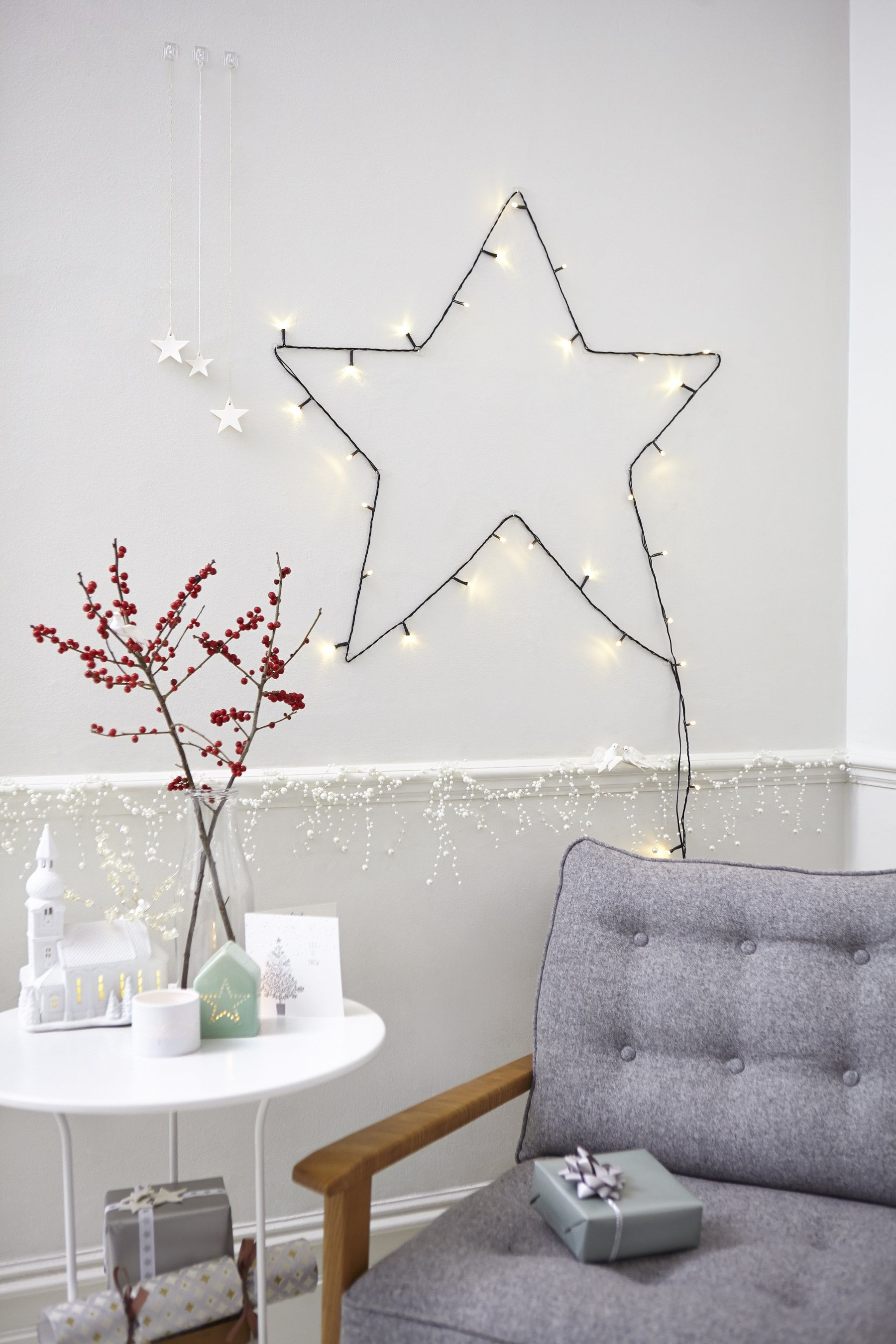 Set up some festive lights as a Christmas star  Just use Command     Set up some festive lights as a Christmas star  Just use Command decorating  clips and