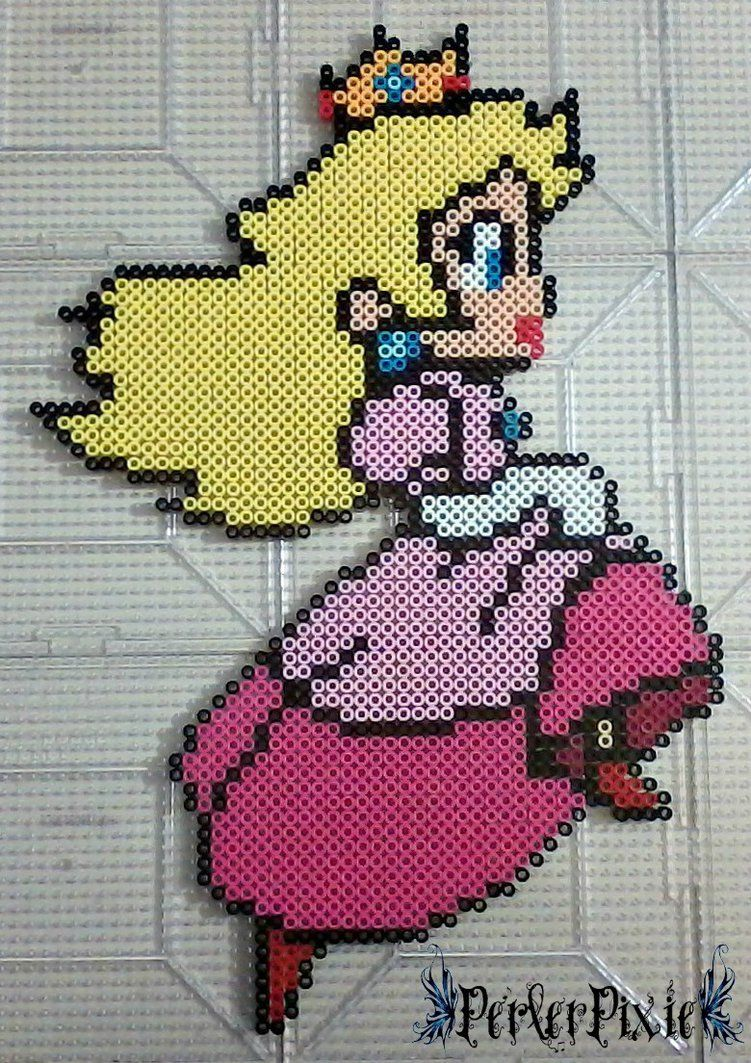 Run Princess Peach By Perlerpixiedeviantartcom On