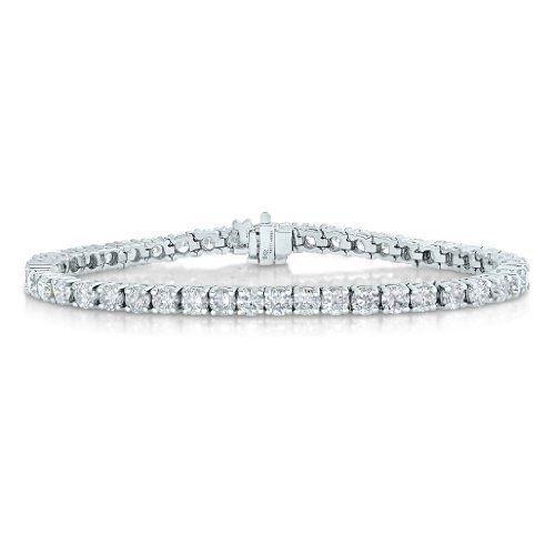 14K White Gold Diamond Bracelet 2 CT Tennis