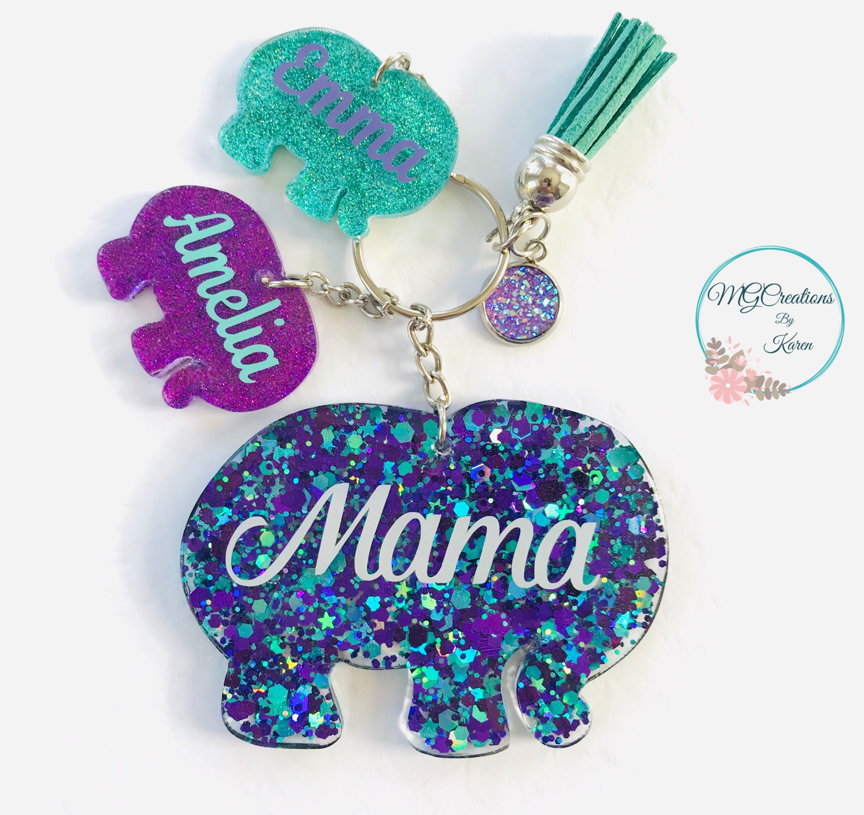 Personalised keyrings it/'s a bing thing  childs name