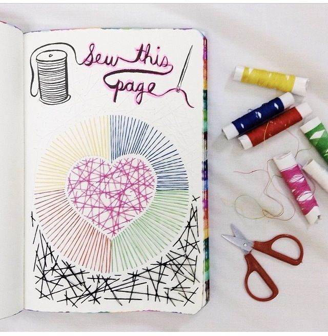 sew this page   Journal stationery, Wreck this journal ...  Wreck This Journal Sew This Page