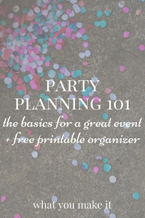 party planning 101: the basics for a great event -   8 Event Planning Template tips