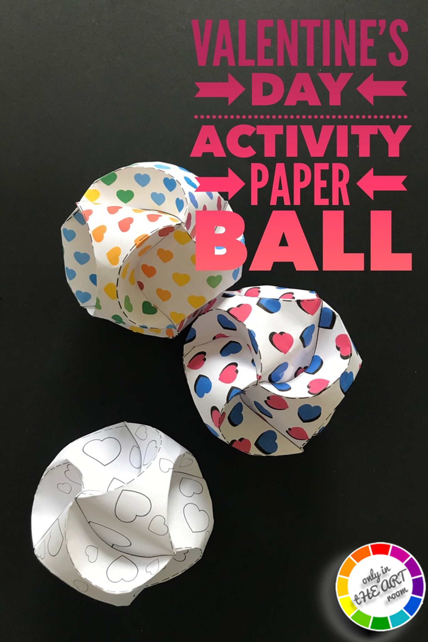 Valentine S Day Activity Create A Paper Ball In