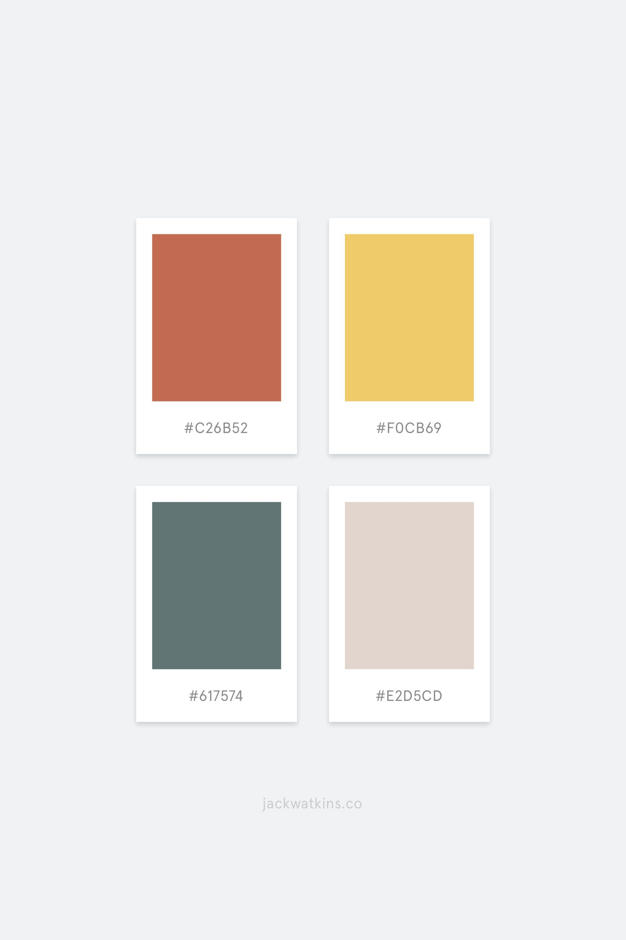 Muted Colourful Simple Colour Palette Curated By Jack Watkins A Branding And Website Designer For Vis Em 2020 Amostras De Cores Inspiração De Cores Cores De Parede