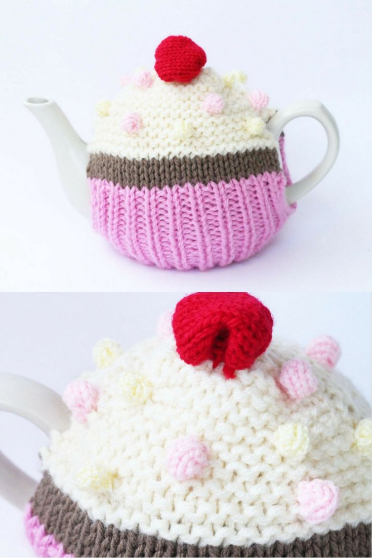 Cupcake tea cosy knitting pattern | Free Knitting Patterns ...