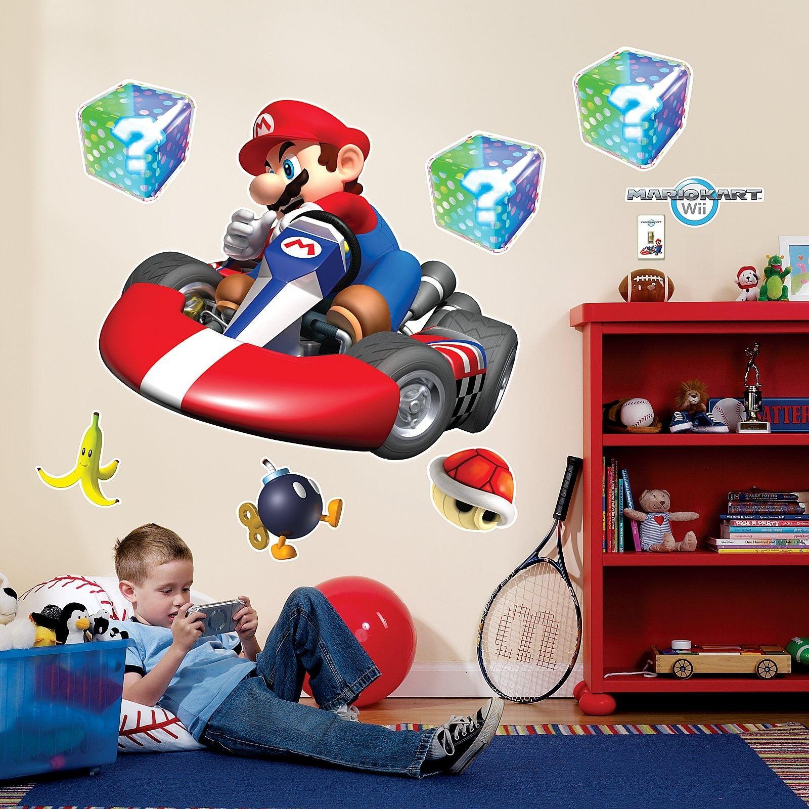 Mario Kart Wii Giant Wall Decals Mario Kart Mario Room Wall Decals