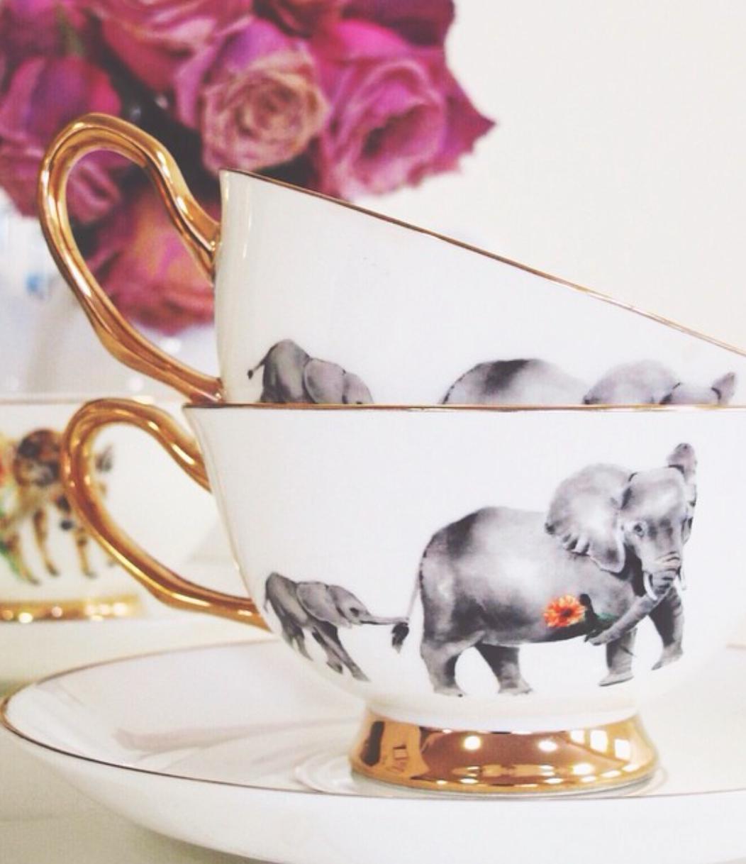Elephant Tea Cups 3 Tea Tea Cups Tea Cup Saucer