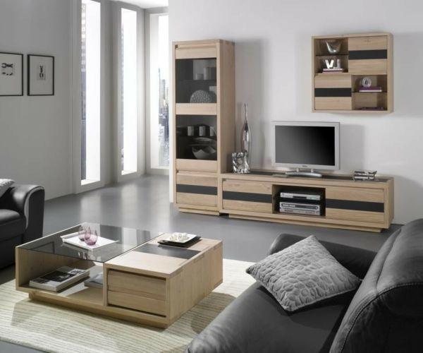 impressionnant table basse de television - Table Basse Et Meuble Tv Bois