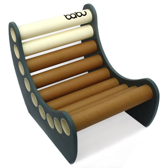 cardboard tube furniture. Jabbah - Babu™ Chair For Kids (from 3 Years) \u2022 Material: MDF + Cardboard Tube Handmade Design From Non Conventional Materials; Each Model Is Unique Furniture O