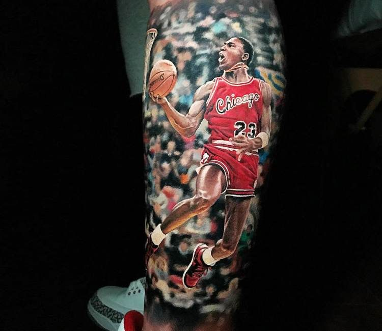 Michael Jordan tattoo by Steve Butcher | Jordan tattoo