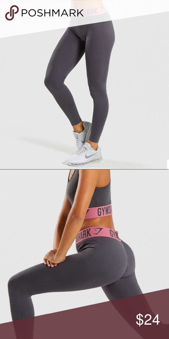 16fd58ca4c256 GymShark | Fit Leggings Grey Pink GymShark | Fit Leggings Grey Fuchsia  Pink. Removed size tag but I always wear a size small in gym shark bottoms.