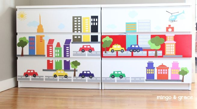 City Wall Decals From French Bull Removable Ikea Hack Update Malm Dresser With