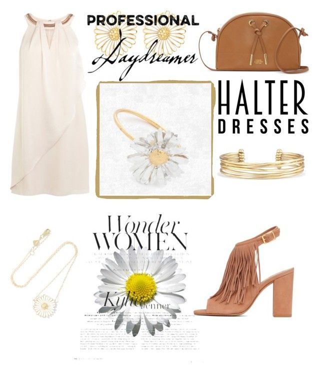 """Beautiful Day"" by bebe-gawddess ❤ liked on Polyvore featuring Coast, Vince Camuto, Alison Lou, Stella & Dot, Alex Monroe and halterdresses"