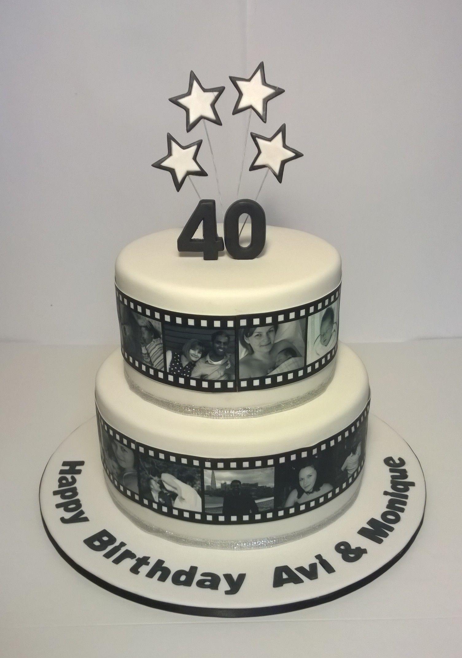 40th Birthday Photo Strip Cake Www Facebook Com