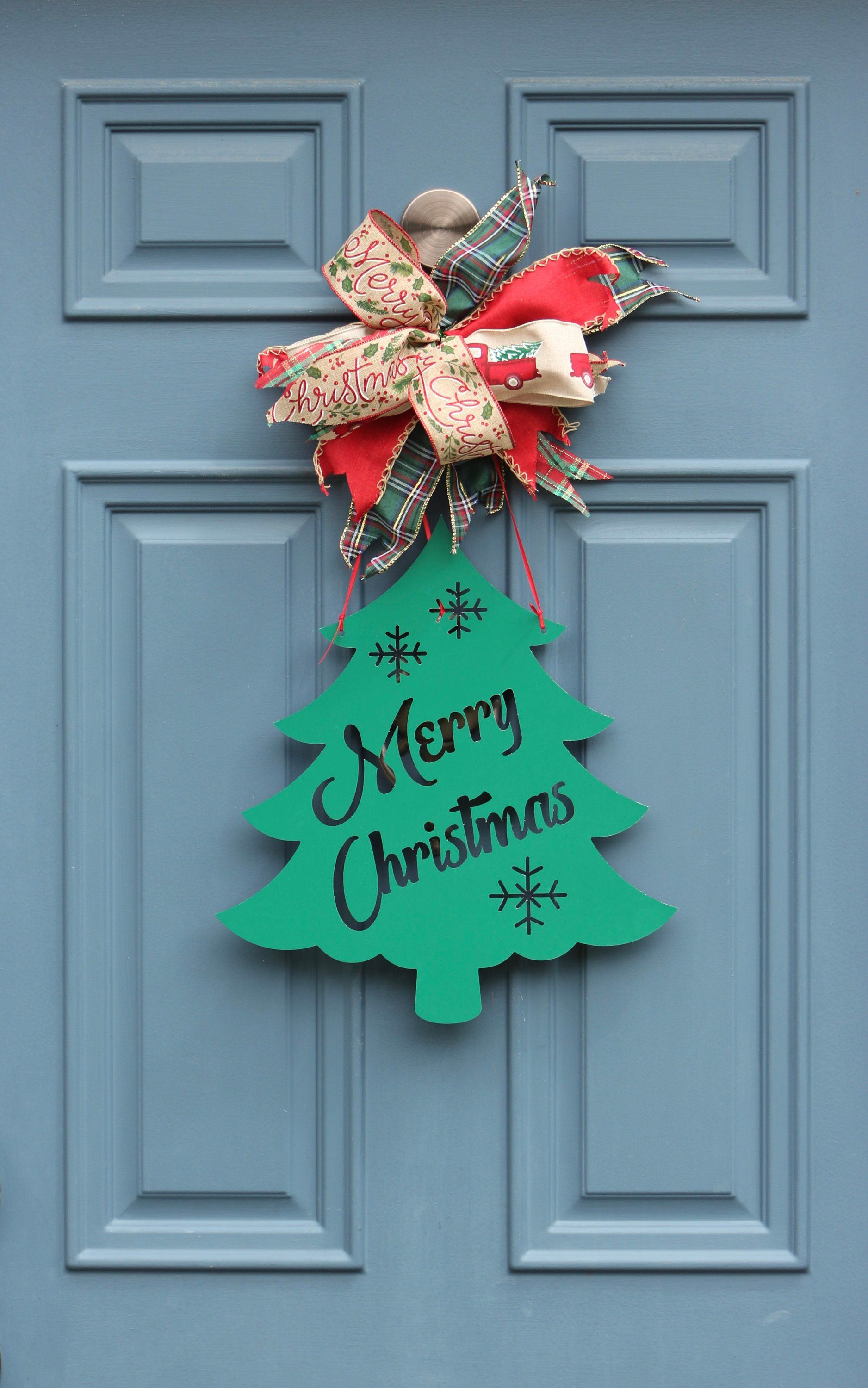 Have A Very Merry Christmas Tree Aluminum Composite Merry Christmas Tree Sign This Xmas Tree Christmas Door Decorations Xmas Decorations Very Merry Christmas