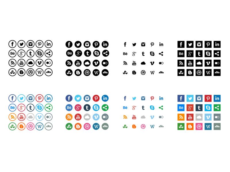 daniel oppels free social media icons