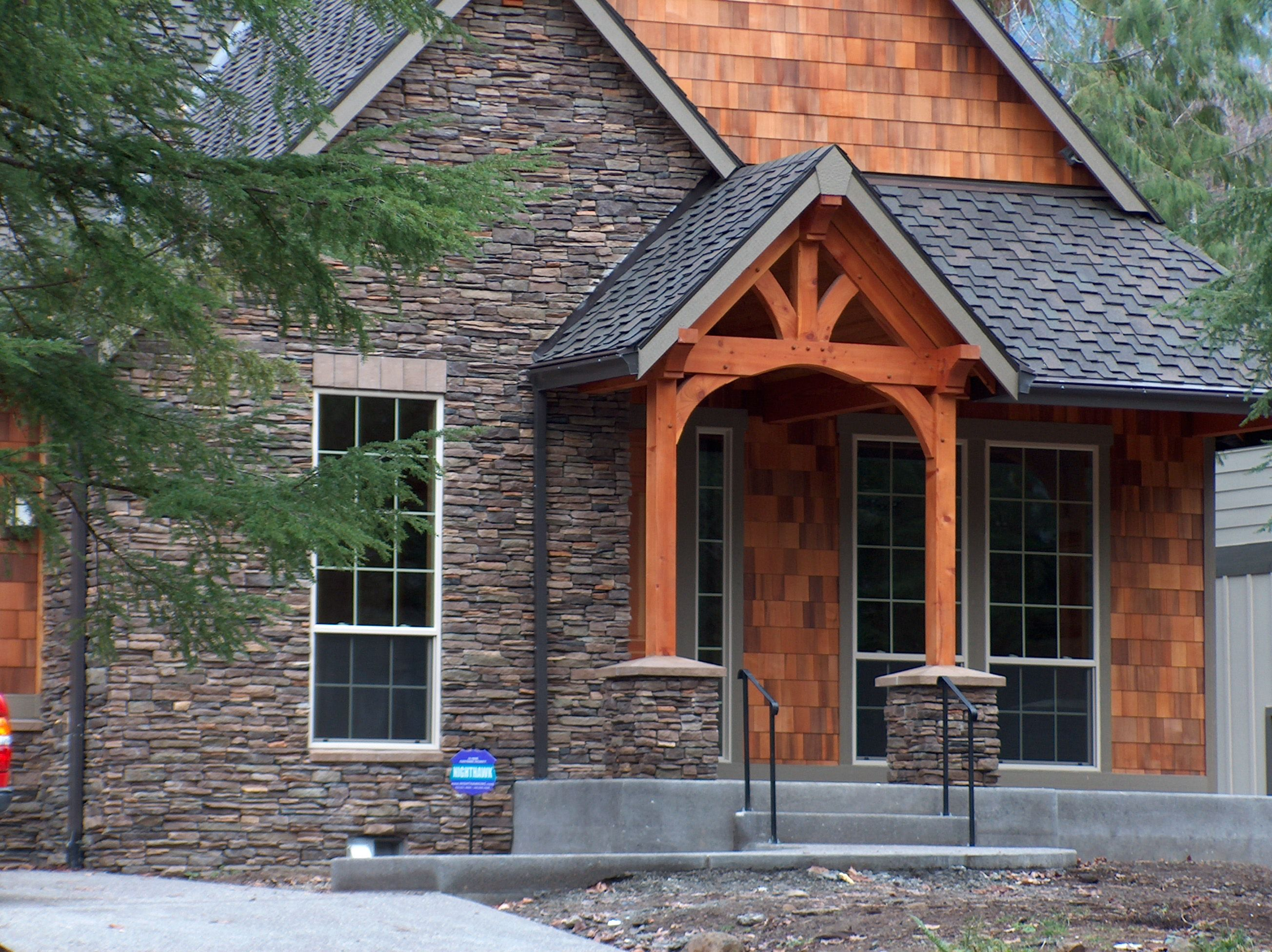 Timber Frame Entry Home Outdoor Living Entryway