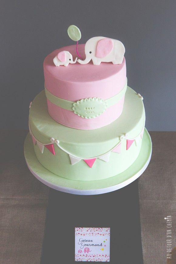 La baby shower de m lanie gateau baby shower g teau et anniversaires - Gateau anniversaire bebe fille ...