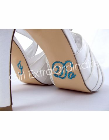 ac328329faf2d7 I Do Shoe Stickers for Bridal Shoes Turquoise Script