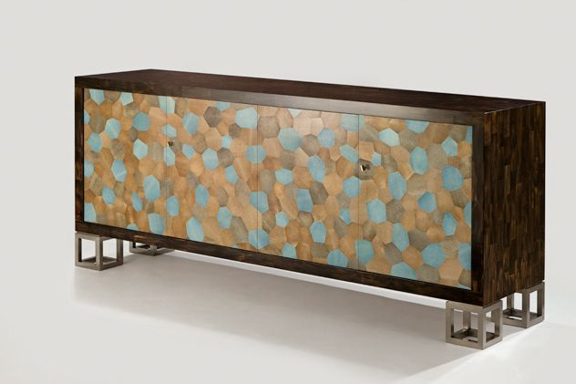 Sideboard in Horn, Shagreen & Silvered Bronze