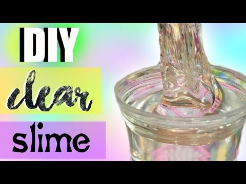 Diy Instant Clear Slime No Waiting For Bubbles Borax Detergent You