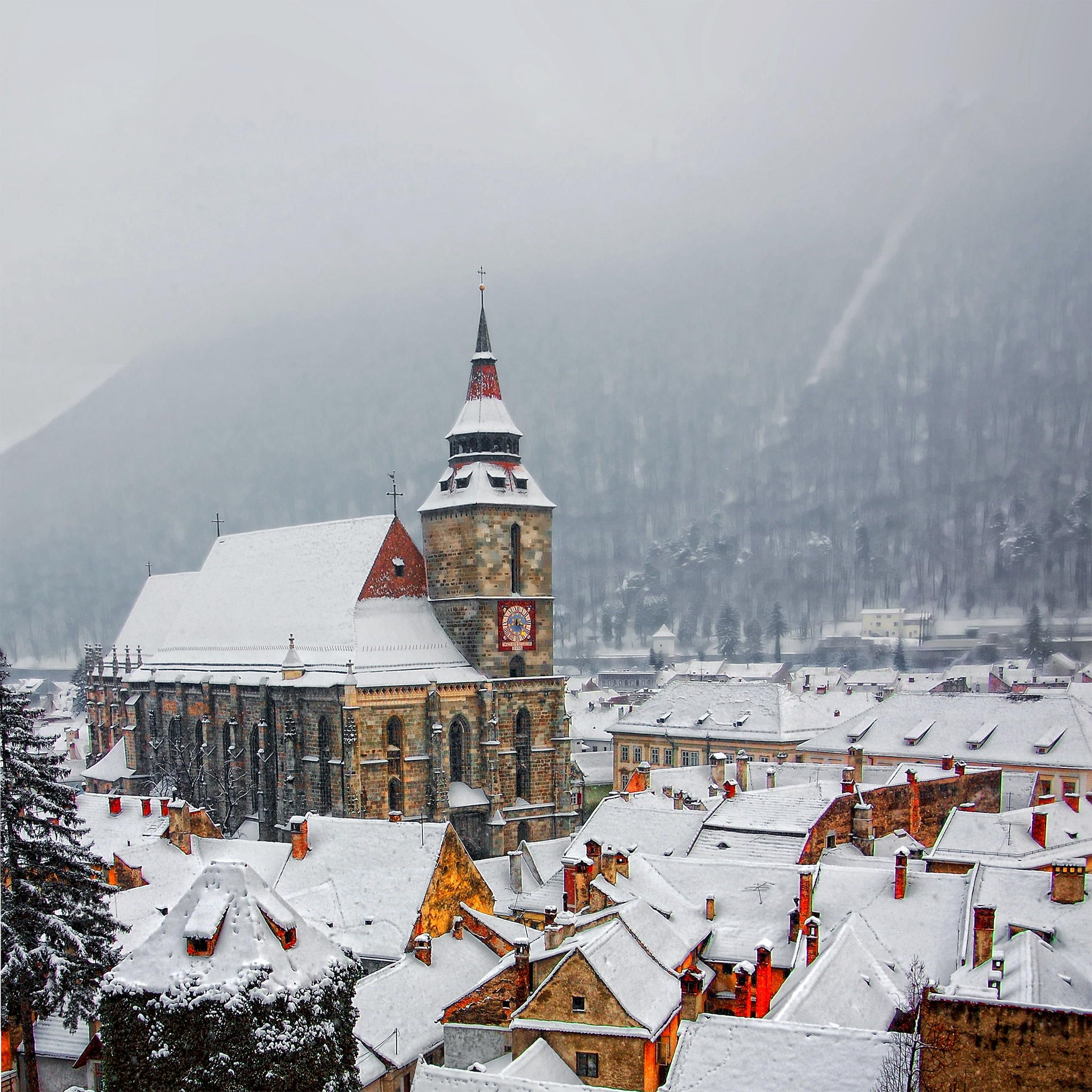 Winter time by George Nutulescu on 500px #Romania #church