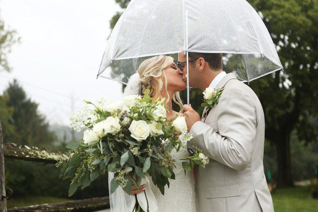 Tips for a Rainy-Day Wedding #clearumbrella