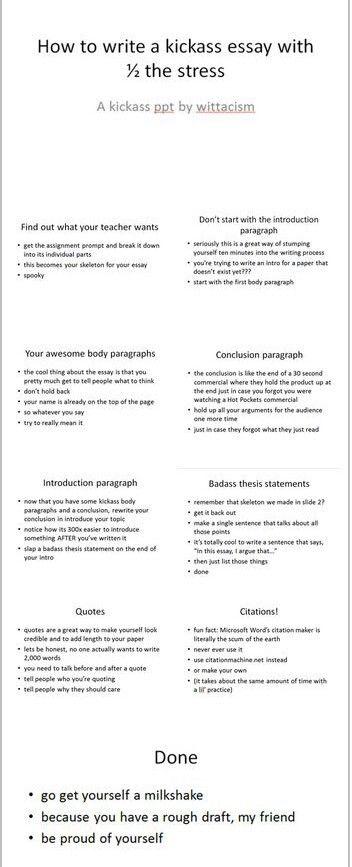 Diy Essay And Help Image School Study Tip Hack College Hacks Introduction Paragraph Maker