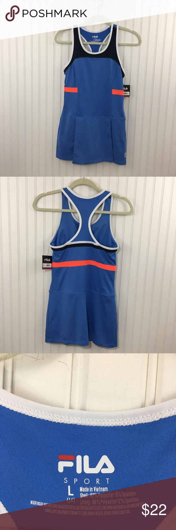 Fila sport athletic tennis dress girls trudry nwt tennis dress