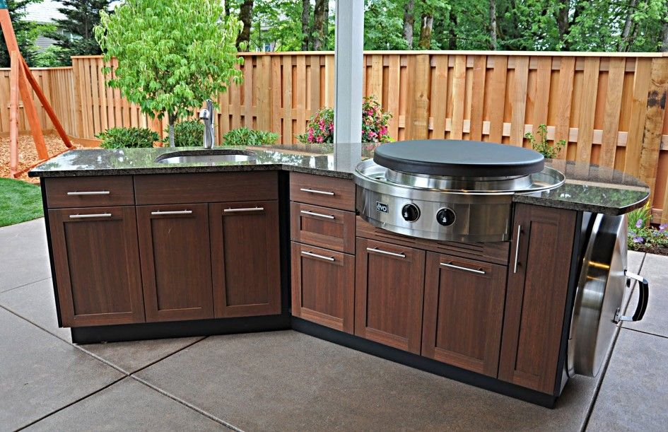 Modular Outdoor Kitchen Cabinets Evo Flat Top Gas Grill