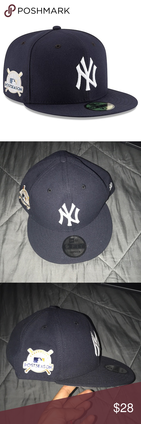60b2b94947921 New era New York Yankees postseason 17 hat Brand new. Smoke and pet free  home. A little bent and misshaped from storage New Era Accessories Hats