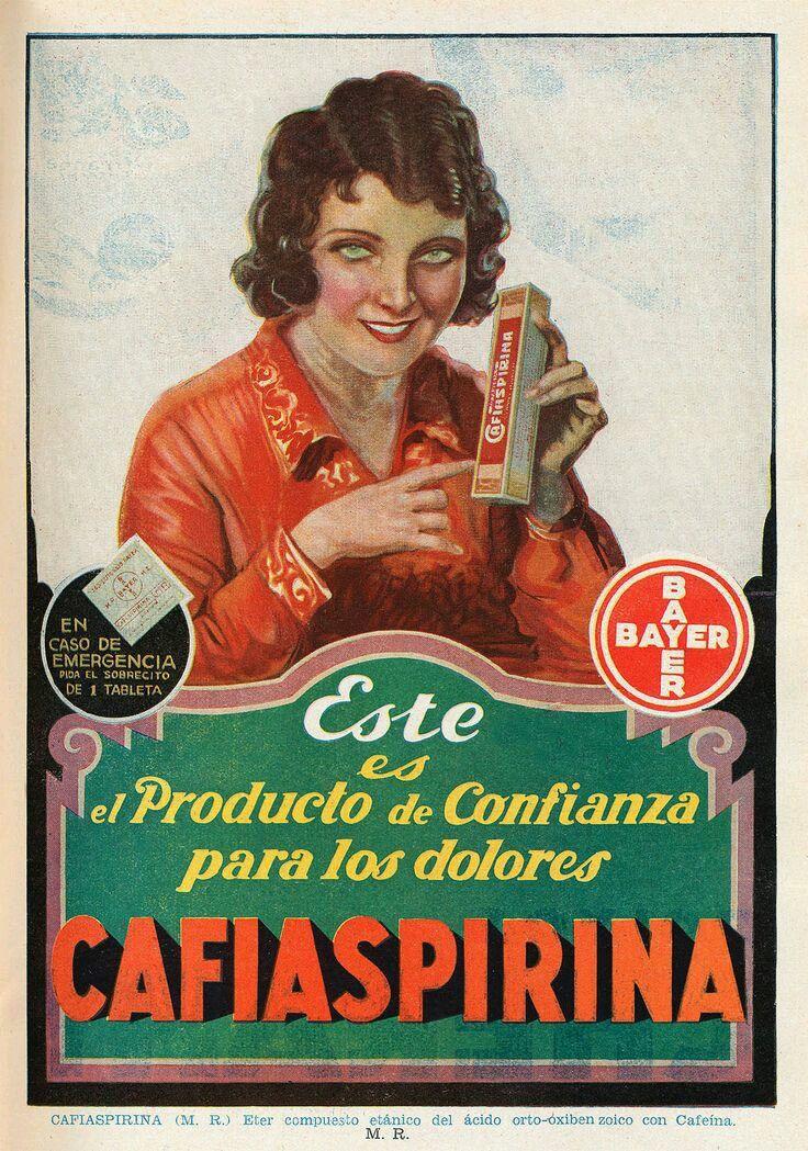 Carteles antiguos de publicidad cafiaspirina carteles antiguos de publicidad vintage pinterest - Carteles retro ...