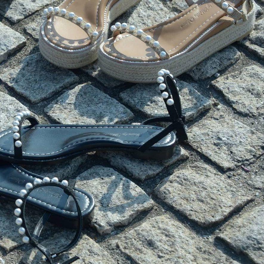 06695941b3e673 Pearl sandals. TSURU by Marino Oikawa  tsurubymarikooikawa  shoes  sandals   pearl
