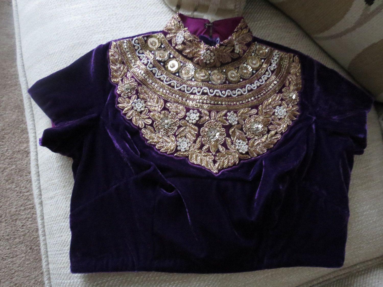 Zari work embroidery maharani blouse other latest pinterest