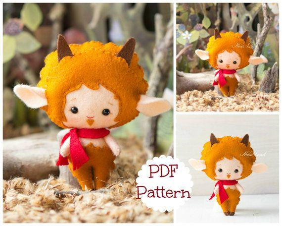 Greek Mythology. Faun. PDF pattern. Felt doll | Pinterest | Filz und ...