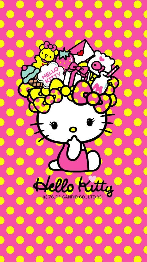 Hello Kitty Wallpaper For Iphone Yellow Google Search