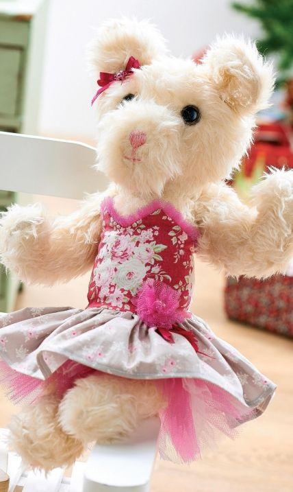 Tilda Prints Ballerina Teddy Bear