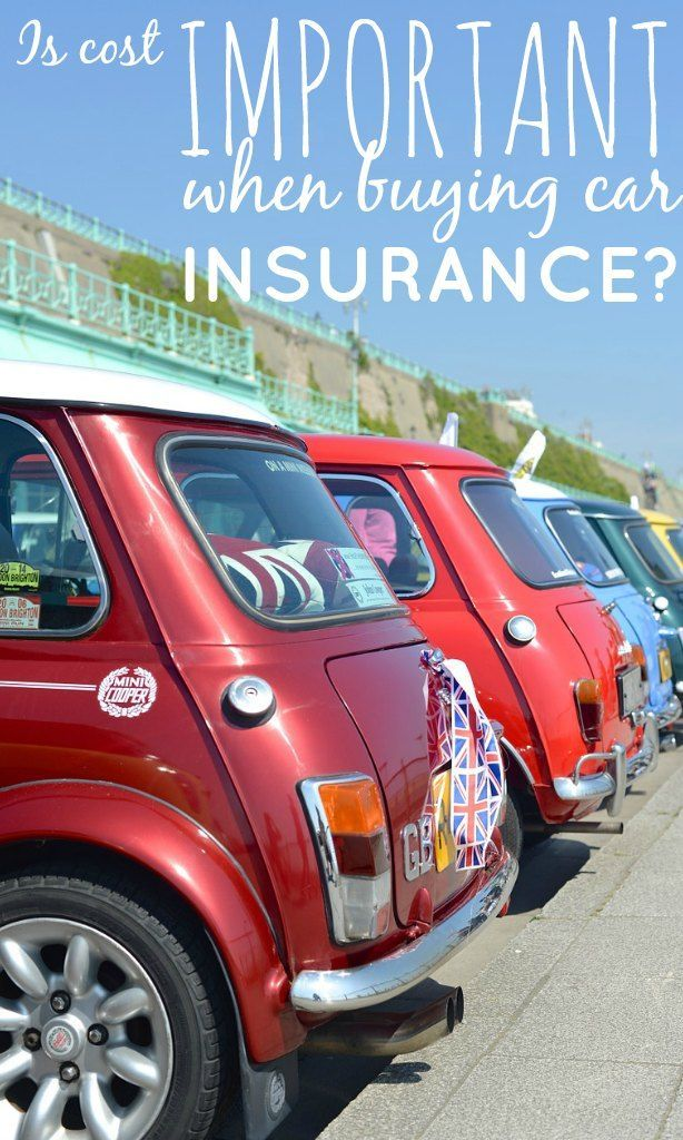 Is Cost Important When Buying Car Insurance? Car
