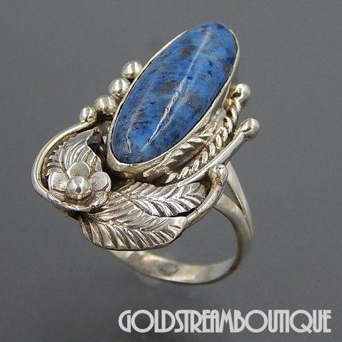 Native American Betty Thomas Navajo Sterling Silver Denim Lapis Lazuli – Gold Stream Boutique